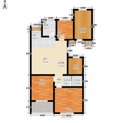 裕昌大学城3室0厅1卫1厨104.00㎡户型图