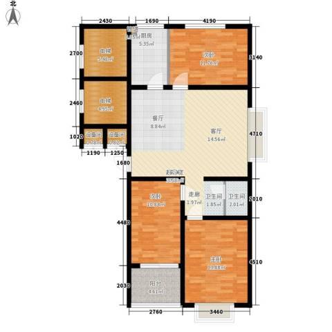 裕昌大学城3室0厅1卫1厨106.00㎡户型图