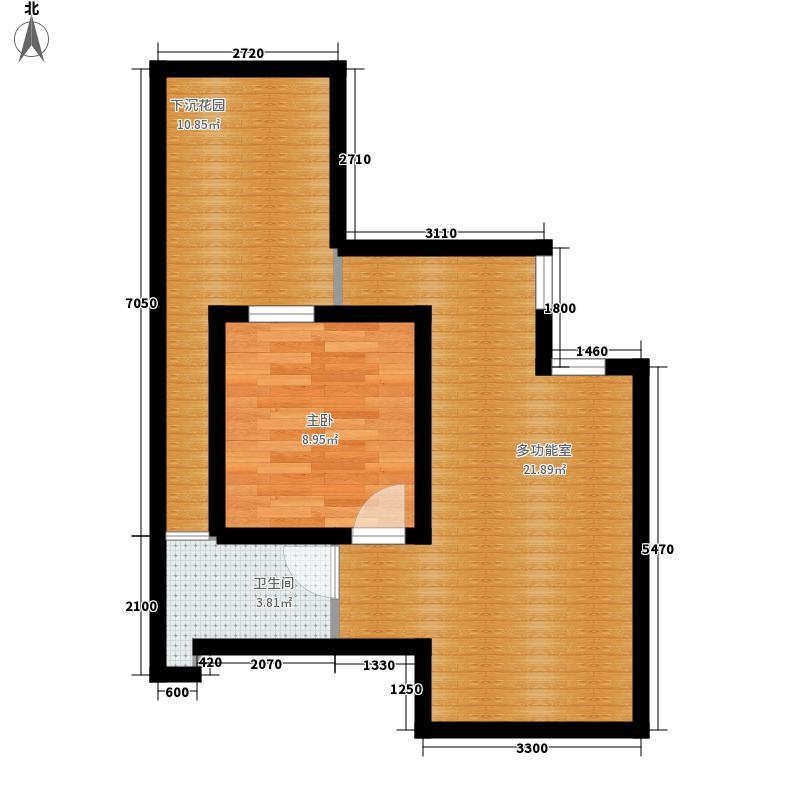 丽都新城三期丽十二公馆110.49㎡AII-2半地下室户型3室2厅