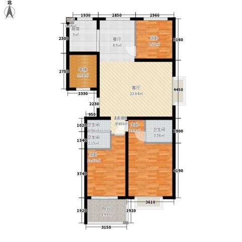 裕昌大学城3室0厅2卫1厨107.00㎡户型图