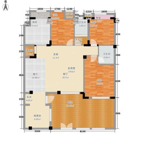朗钜天域维尔蓝堤3室0厅2卫1厨206.00㎡户型图