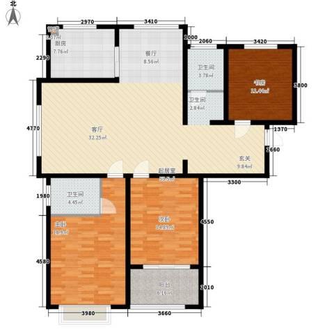 裕昌大学城3室0厅2卫1厨137.00㎡户型图