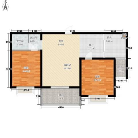 裕昌大学城2室0厅1卫1厨96.00㎡户型图