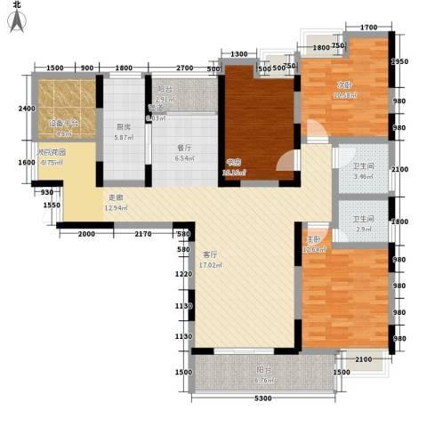 鄂高书香门第3室0厅2卫1厨148.00㎡户型图