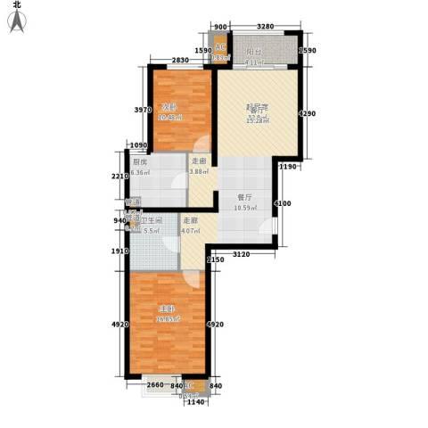 绿地新都会・国际花都2室0厅1卫1厨85.00㎡户型图