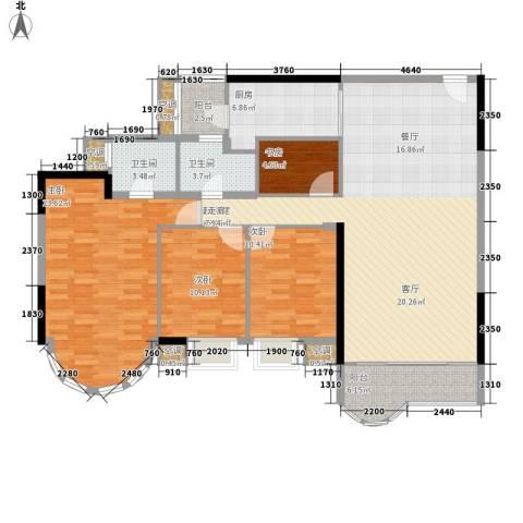 白云骏景家园4室0厅2卫1厨133.00㎡户型图