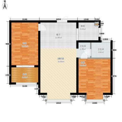 裕昌大学城2室0厅1卫1厨90.00㎡户型图