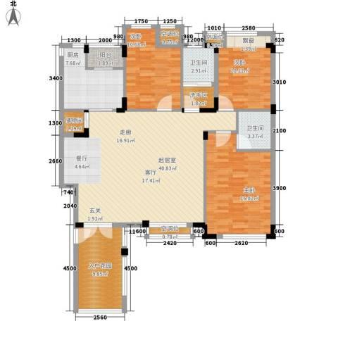 朗钜天域维尔蓝堤3室0厅2卫1厨154.00㎡户型图