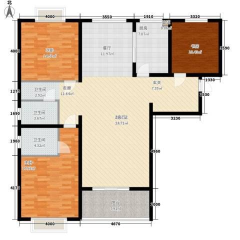 裕昌大学城3室0厅2卫1厨140.00㎡户型图