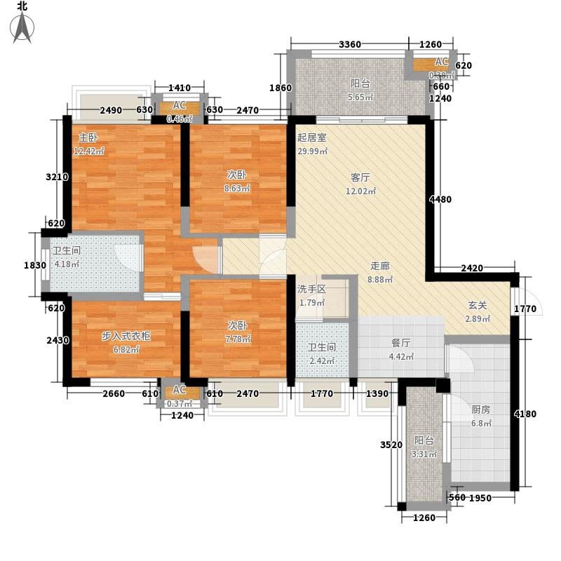 中铁城锦南汇105.00㎡B户型3室2厅