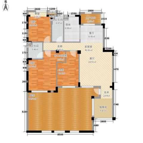朗钜天域维尔蓝堤3室0厅2卫1厨200.00㎡户型图