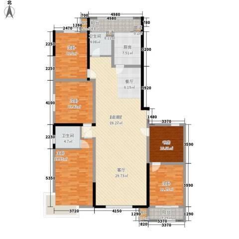 五岭新天地二期 天一华府5室0厅2卫1厨175.00㎡户型图