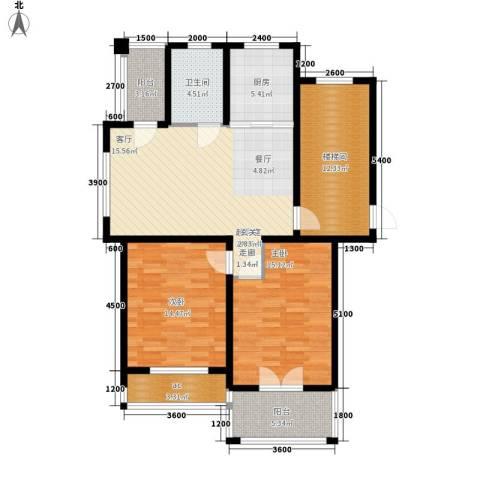 城站国际广场2室0厅1卫1厨112.00㎡户型图