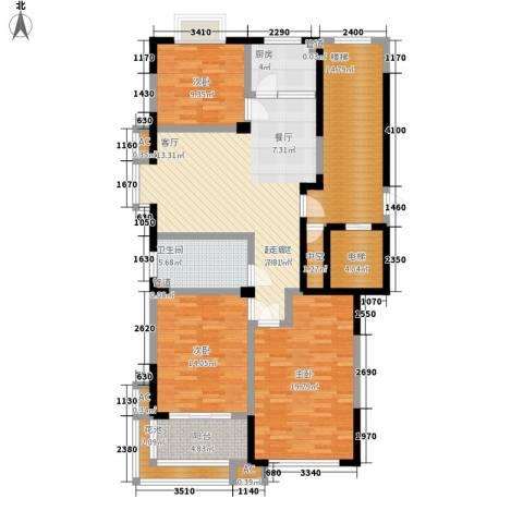 明泉馨居3室0厅1卫1厨129.00㎡户型图