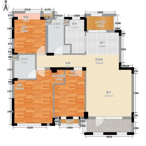 朗钜天域维尔蓝堤3室0厅2卫1厨100.68㎡户型图