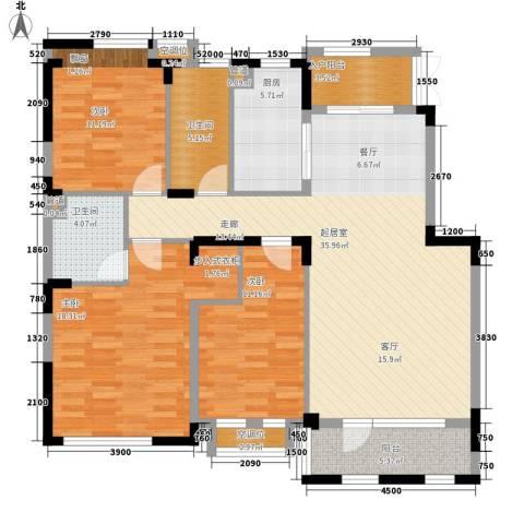 朗钜天域维尔蓝堤3室0厅2卫1厨101.79㎡户型图