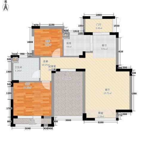 朗钜天域维尔蓝堤2室0厅1卫1厨114.00㎡户型图