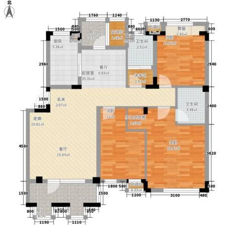 朗钜天域维尔蓝堤3室0厅2卫1厨147.00㎡户型图