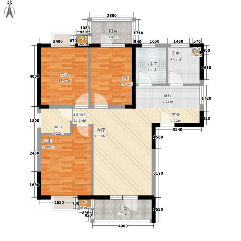 龙源映象127.00㎡1#/2#B1户型3室2厅