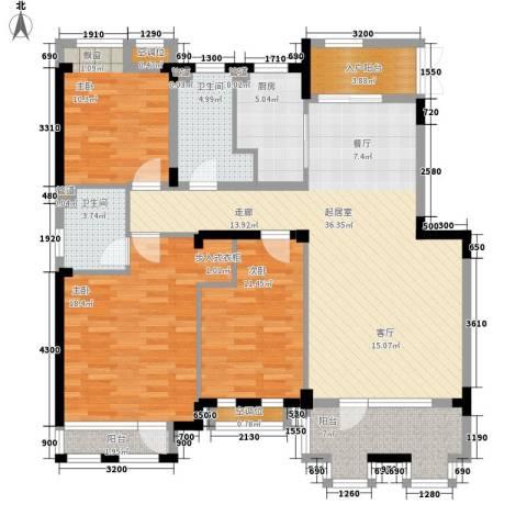朗钜天域维尔蓝堤3室0厅2卫1厨104.43㎡户型图