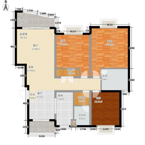 狮山峰汇3室0厅2卫1厨147.00㎡户型图