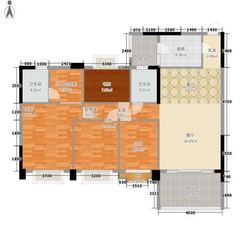金华花园4室0厅2卫1厨166.00㎡户型图