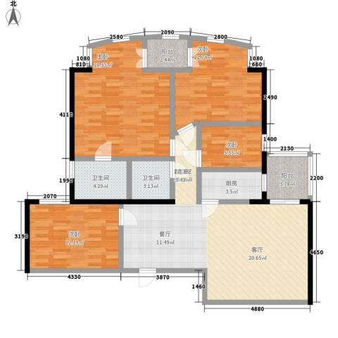 天伦花园4室0厅2卫1厨120.00㎡户型图