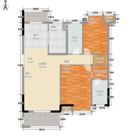 盛世香园2室0厅2卫1厨125.00㎡户型图