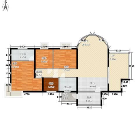 旭景名园4室0厅2卫1厨159.00㎡户型图