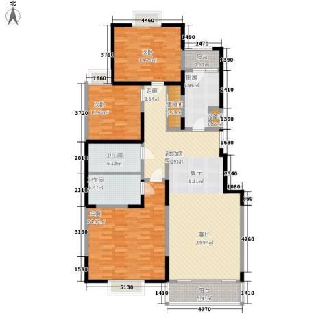 中海华庭3室0厅2卫1厨181.00㎡户型图