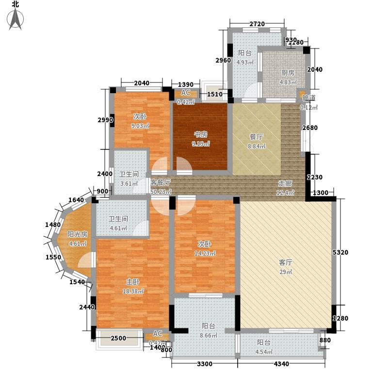 保利山庄233.10㎡一期D1栋标准层1号房户型