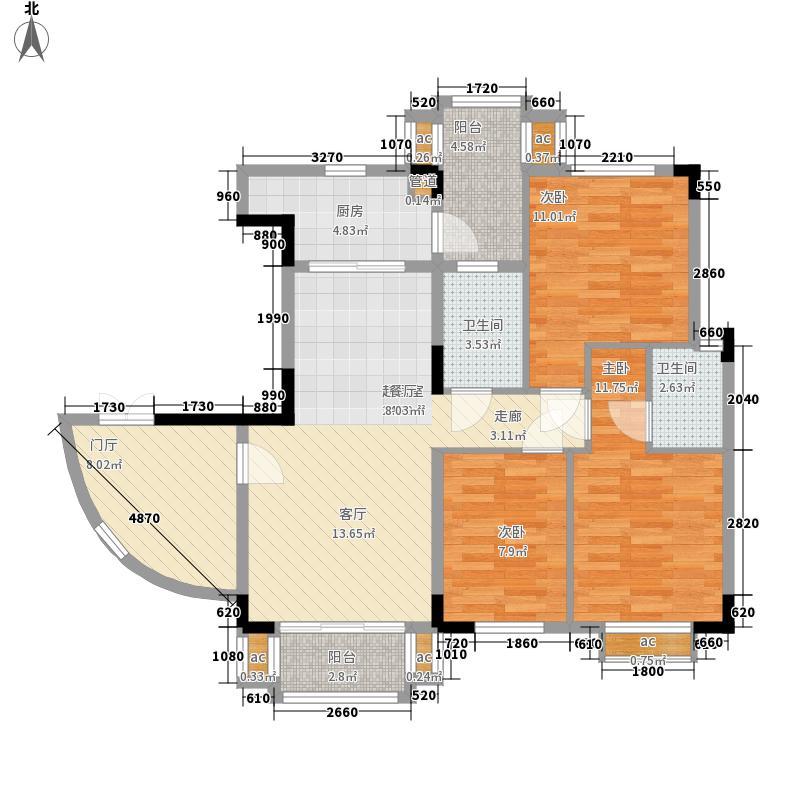 大运家园98.08㎡6栋F座1面积9808m户型