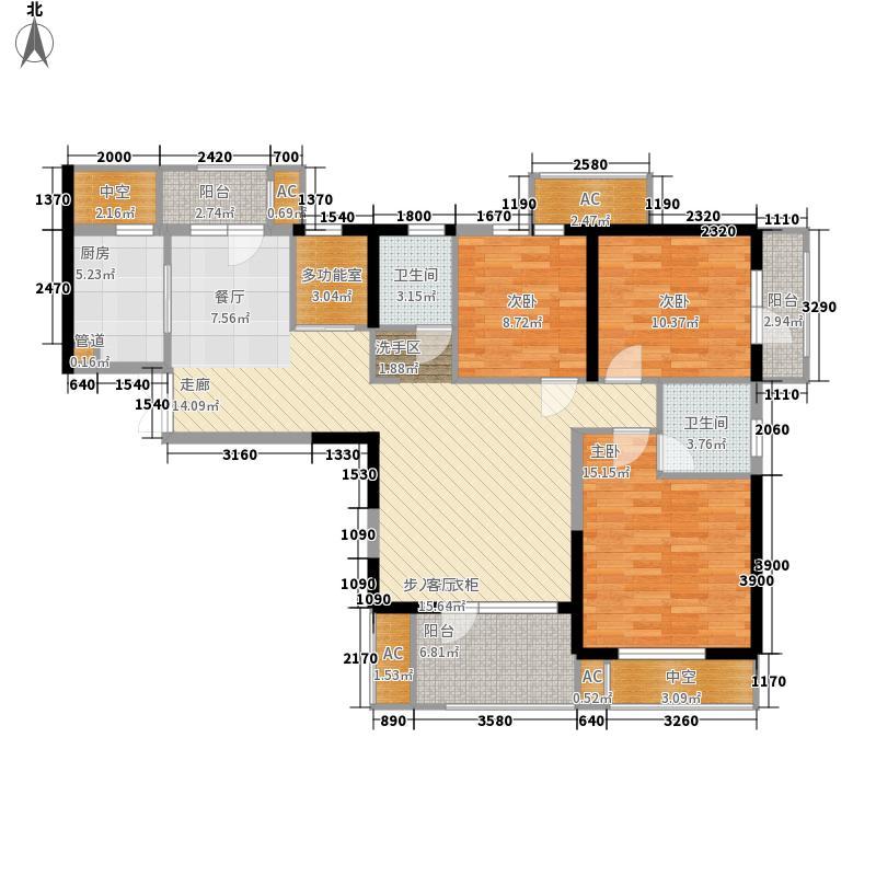 龙阳1号136.00㎡8-1锦绣牡丹户型3室2厅