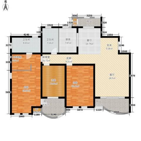 城市经典四期高迪3室0厅2卫1厨175.00㎡户型图
