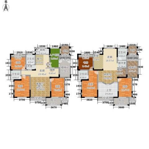 东方世纪城6室1厅4卫1厨390.00㎡户型图