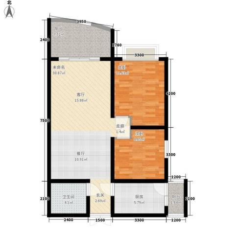 洲际半岛新城2室0厅1卫1厨100.00㎡户型图