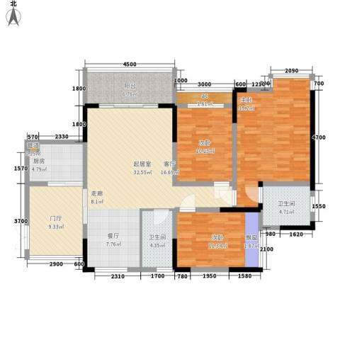 中凯翠海朗园3室0厅2卫1厨105.03㎡户型图