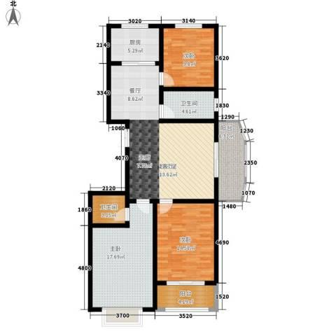 天润・东方绿城3室0厅2卫1厨138.00㎡户型图