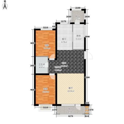 营口世博花园2室0厅1卫1厨124.00㎡户型图