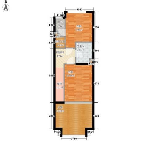 阳光100城市丽园2室0厅1卫0厨68.00㎡户型图