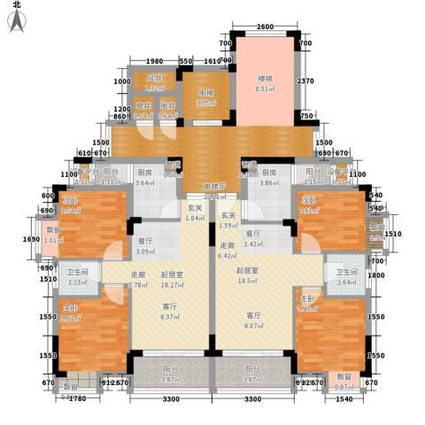 秋谷月半弯4室0厅2卫2厨123.87㎡户型图
