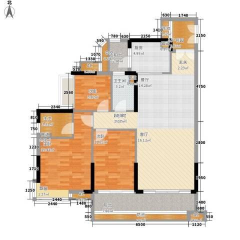 芙蓉春晓3室0厅1卫1厨115.00㎡户型图