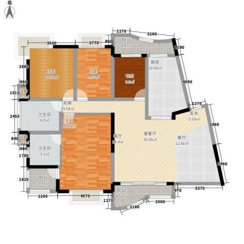 华立天地豪园4室1厅2卫1厨180.00㎡户型图