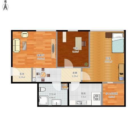 金易城市之光1室1厅1卫1厨82.00㎡户型图
