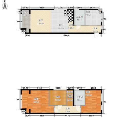 阳光100城市丽园3室0厅2卫1厨147.00㎡户型图