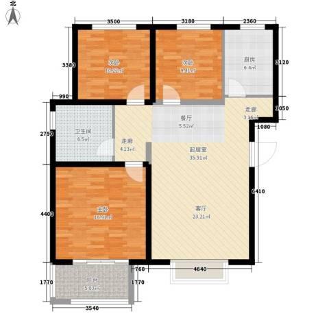 三丰中心思想3室0厅1卫1厨102.00㎡户型图