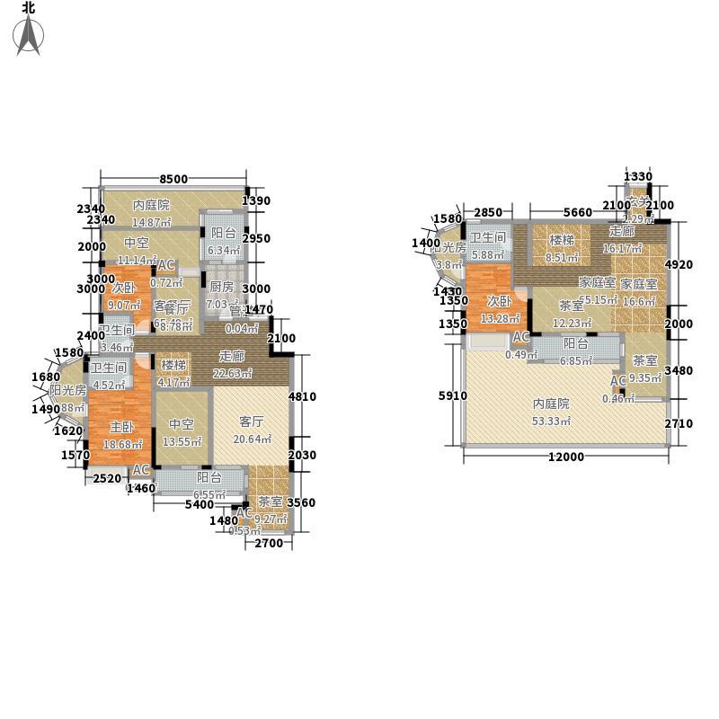 保利山庄237.68㎡一期D1栋标准层3号房户型