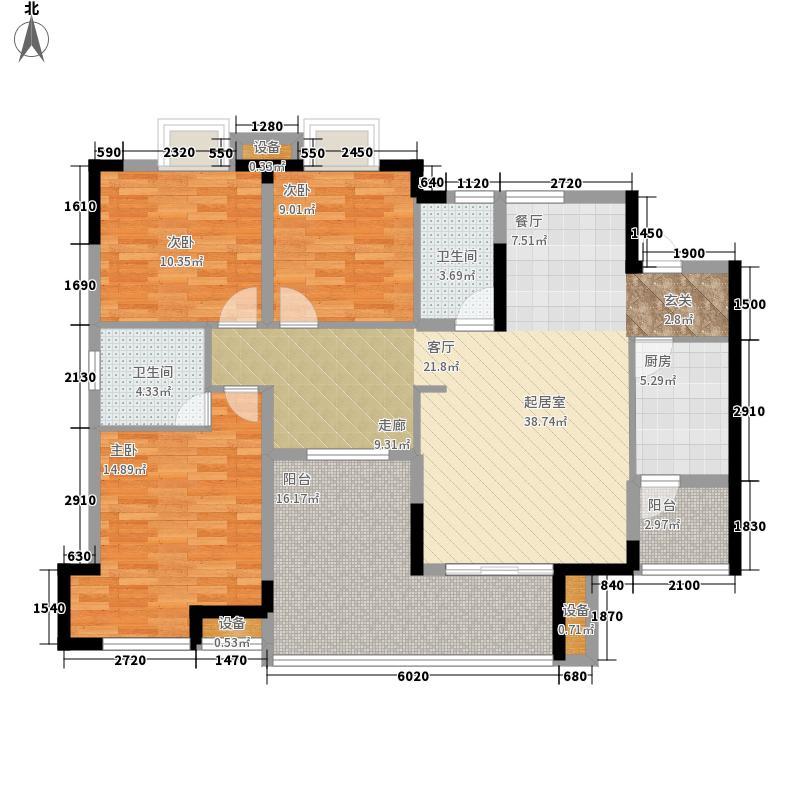 金鞍香海驿103.16㎡7号楼1号房3面积10316m户型