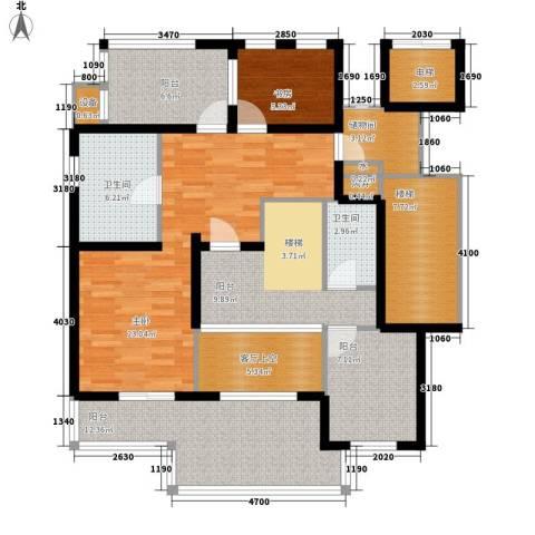 华润中央公园2室0厅2卫0厨110.00㎡户型图