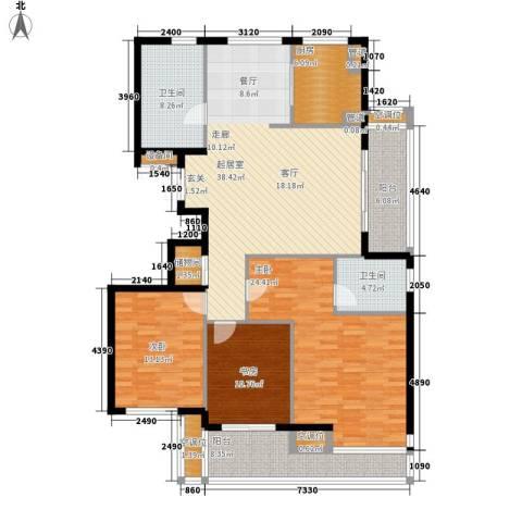 盛世香园3室0厅2卫1厨142.00㎡户型图